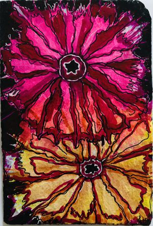 Hand Painted Floral Slate Ready to Hang Artwork for Sale in Crofton, MD