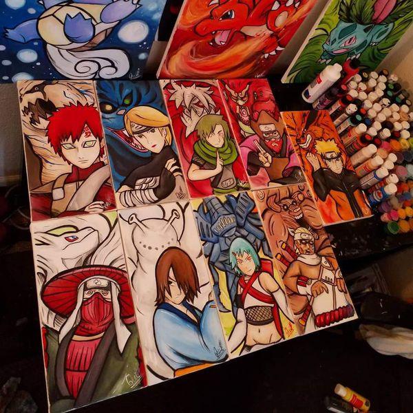 Jinchurikis Set! By Quil - Naruto Shippuden