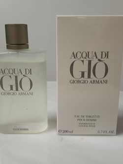Acqua Di Gio Eau De Toilette 6.7 Oz for Sale in Sterling Heights,  MI
