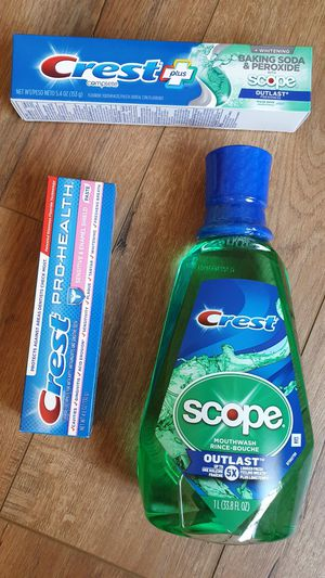 Crest Toothpaste and Mouthwash Lot for Sale in Sunnyvale, CA