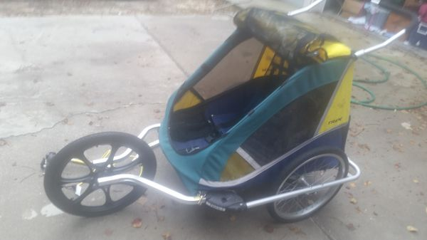 Trek Double Jogger Stroller With Bike Trailer Attachment