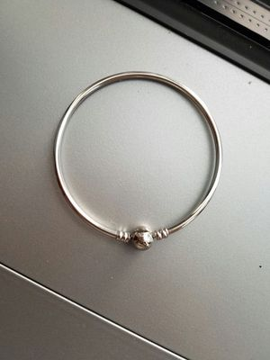 Modern bangle bracelets, fits pandora charms, silver, simple, for Sale in Seattle, WA