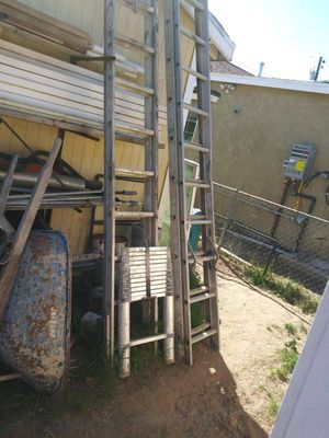 3 Werner extension ladders $120 for Sale in Bakersfield, CA
