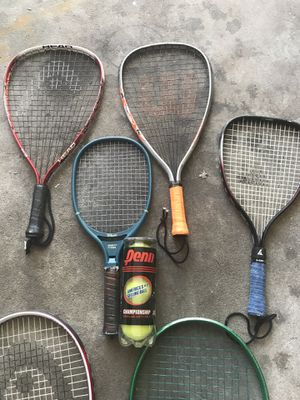 Racket ball and tennis rackets with bag for Sale in Riverview, FL
