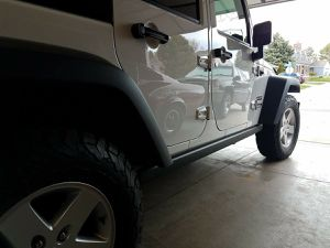 Jeep Wrangler JKU Rubicon Factory Rock Rails for Sale in Willowbrook, IL