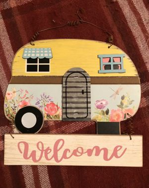 Farmhouse Camper RV Welcome Hanging Sign for Sale in Mentor, OH