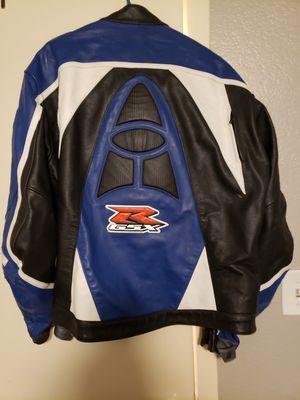 Suzuki GSXR Blue Leather Motorcycle Jacket for Sale in Dallas, TX