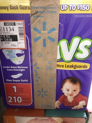 Luvs size 1 diapers 210 count sealed box brand new $20 Firm for Sale in Phoenix, AZ
