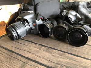 Canon T3i with 3 lens attachments for Sale in Glen Burnie, MD