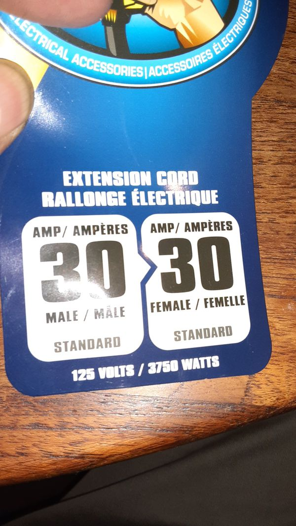 Extension Cord 25ft. 250v