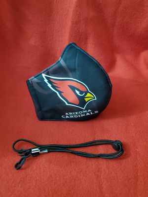 2 Pc NFL Arizona Cardinals Face Mask & Lanyard ser for Sale in Garden Grove, CA
