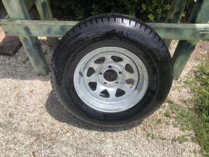 Trailer wheel Tire 205-75-14R on 5-lug rims for Sale in Miami, FL
