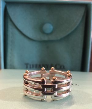 Tiffany & Co. Sterling Silver and 18k Gold Ring for Sale in New York, NY