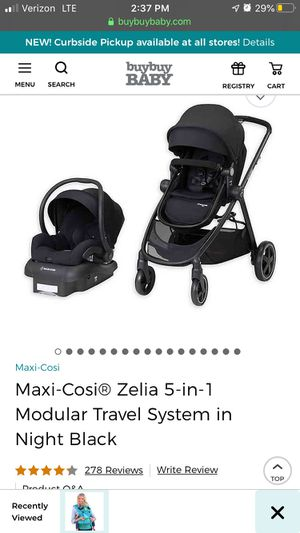 Baby Stroller - Maxi Cosi stroller system, car seat, bassinet for Sale in Wilmington, NC