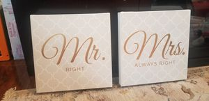Mr. Right & Mrs. Always Right wall decor for Sale in Miami, FL