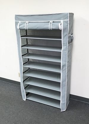 """New $25 each 10-Tiers 45 Shoe Rack Closet with Fabric Cover Storage Organizer Cabinet 36x12x62"""" for Sale in South El Monte, CA"""