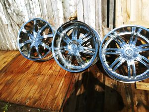 "24"" 5X120 Chrome Wheels. ""Wheels Only"" for Sale in Commerce City, CO"