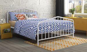Brand New Queen White Metal Platform Bed for Sale in Jacksonville, FL