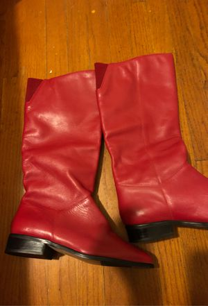 Club hunt red boots for Sale in Los Alamitos, CA