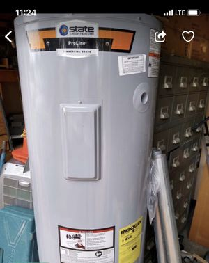 WATER HEATER STATE PRO-LINE 50 GALLON ....ELECTRIC...... Manufactured 2019 AMAZING DEAL ! for Sale in Miami, FL