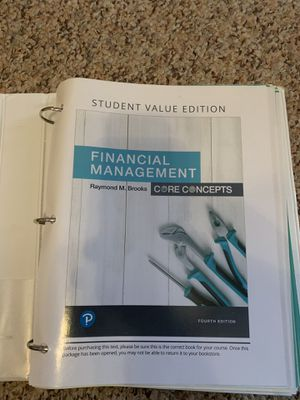 Finance Management Book for Sale in Mansfield, OH
