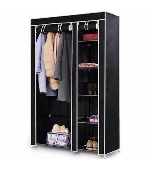 "NEW 69"" Portable Closet Storage Organizer Clothes Wardrobe Shoe Rack W/6 Shelf Black for Sale in Phoenix, AZ"