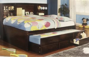 TWIN CAPTAIN BED W/TRUNDLE AND 3 DRAWERS $559 for Sale in Denver, CO