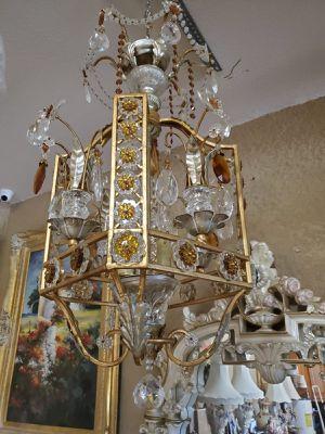 Italian chandelier crystals murano for Sale in Miami, FL