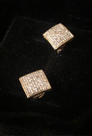 10K Gold & Diamond Earrings (Screw Backs) for Sale in Mesa, AZ