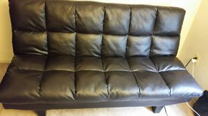 Leather futon for Sale in Laurel, MD