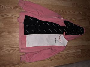 Pink/white supreme hoodie Men's Small for Sale in Land O Lakes, FL