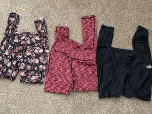 Lululemon North Face and Reebok work out pants Size S for Sale in McKinney, TX