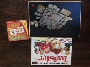Monopoly game, twister & Rhyming fun puzzles for Sale in Philadelphia, PA
