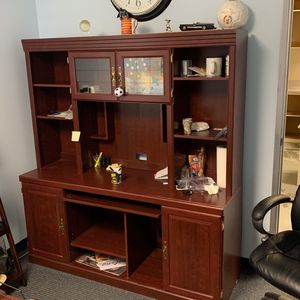 Office Desk And Top With Cabinet - Free Delivery In 15 Mile Radius for Sale in Santa Clarita, CA