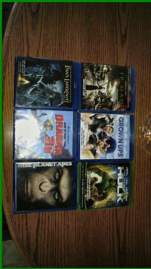 Blue Ray DVD movies