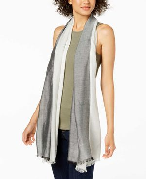 Calvin Klein Chambray Colorblocked Cover-Up & Scarf (Black, One Size) for Sale in Norfolk, VA