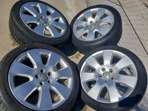 "AUDI 18""INCH WHEELS WITH 235/40/18 TIRES + TPMS AIR SENSORS for Sale in Ontario, CA"