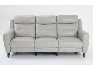 Leather Power Reclining Sofa with USB charger for Sale in Rockville, MD