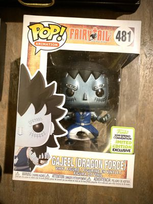 FUNKO POP METALLIC GAJEEL (Dragon Force) for Sale in Chicago, IL