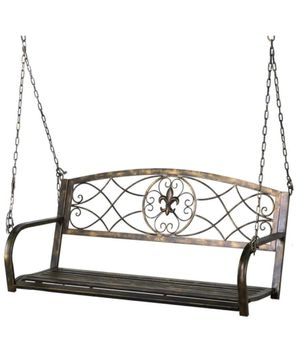Yaheetech Iron Porch Swing Hanging Bench for Sale in Downers Grove, IL