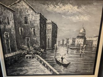 Vintage Black And White Painting for Sale in San Diego,  CA
