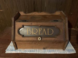Wood Bread Box Wooden Breakfast Storage Bin Container for Sale in Pittsburgh, PA