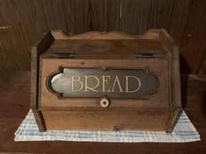 Wood Bread Box Wooden Breakfast Storage Bin Container for Sale in Glenshaw, PA