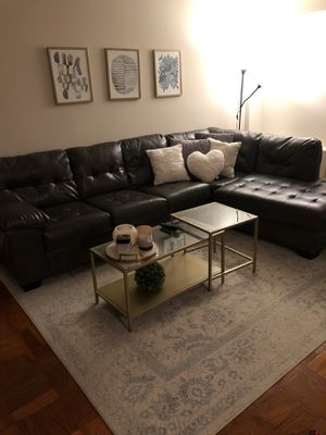 Large leather couch for Sale in Arlington, VA