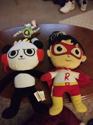 """Both 16"""" BIG PLUSHIES FROM RYANS WORLD. NEW for Sale in Summit, IL"""