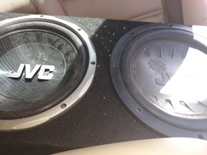 2- 12in jvc subs with box for Sale in Fort Myers, FL