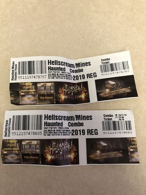 Two tickets to haunted house for Sale in Fort Carson, CO