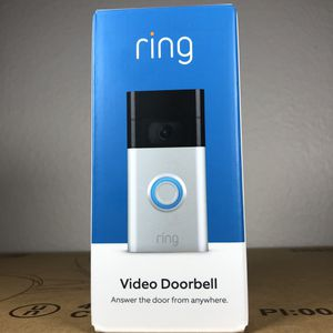 Ring Video Doorbell – 1080p HD video, improved motion detection, easy installation – Satin Nickel (2020 release) for Sale in Chino, CA