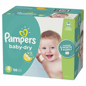 Pampers Baby Dry Size 4 , 186 pcs Brand New for Sale in The Bronx, NY