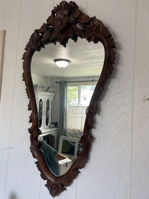 Vintage wood carved mirror for Sale in Cashmere, WA